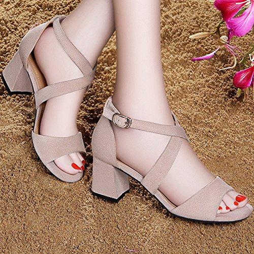 ZPPZZP La sig.ra sandali in stile occidentale in un pacchetto con il a tacco alto con bold 37EU