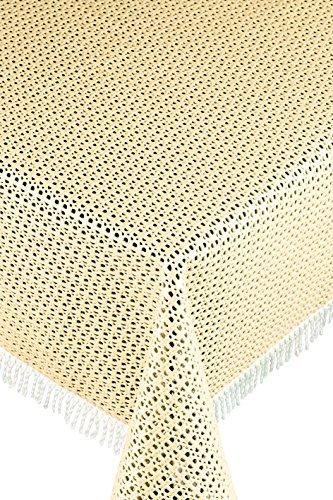 Friedola 20275 Gartentischdecke Rustikal, Design-Purism, 130 x 180 cm, fawn