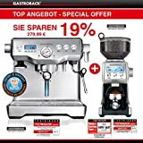 Angebot Gastroback - Design Espresso Maschine Advanced Control + Design Kaffeemühle Advanced Pro