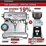 Angebot Gastroback - Design Espresso Maschine Advanced Control + Design Kaffeemühle Advanced Pro