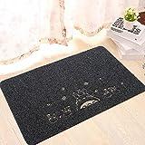 Sucastle Bagno soggiorno cucina stuoia tappetino poliestere Grigio (gatto nero) 40*60cm