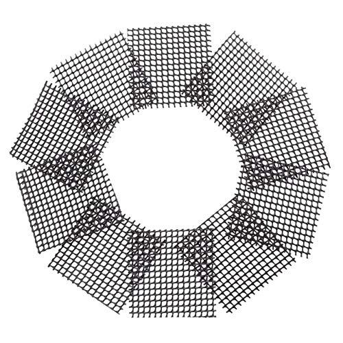 YUNB 50 Stücke Verhindern Boden auslaufsicher Pad korrosionsschutz Atmungsaktive Net Kunststoff Blumentopf Mesh Pad Platz Bonsai Topf Boden Matte Mesh (Platz Töpfe Net)