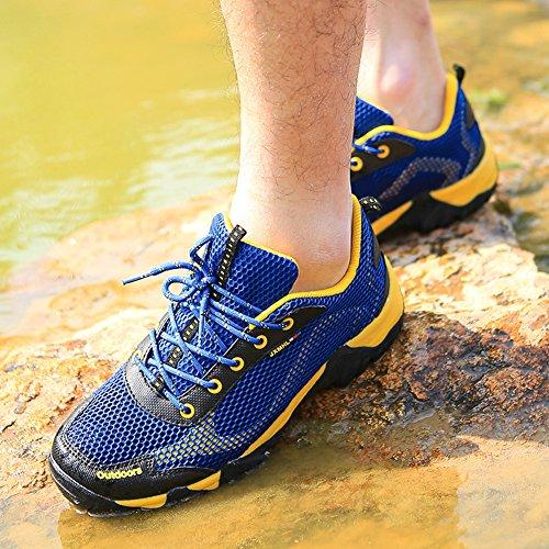 In Esecuzione Blu Casuali Escursioni Il Scarpe Scarpe Con Da Pizzo peso Slittamento Sport Traspirante Scuro Uomo Sono Stati A Piedi Leggero Gomnear Wn76ROqn