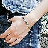Daesar 925 Silber Armband für Frauen Herz I Love U Armband Silber Kettenlänge: 17cm