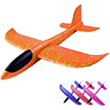 WHITE POPCORN Upgrade EPP Plane Hand Launch Throwing Rubber Band 2 in 1 Aircraft Model Foam Children Parachute Toy(Pack…