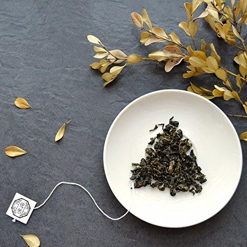 Nirvana Teehaus Reiner Oolong Tee in Teebeutel, Loser Tee (21 x 3 g) Große Teeblätter (Loose Leaf), Pyramidenbeutel, Geschmackvoll & Natürlich, Chinesischer Tee, Jinxuan, Nirvana Teahouse
