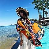 Hmeili Sciarpe Sciarpa Femminile Moda Etnica Stile Viaggio Vacanza al Mare Scaldino Super Grande Scialle da Spiaggia Femminile Scialle