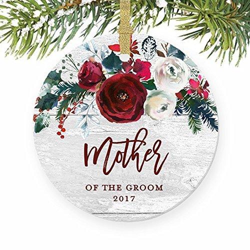 Hochzeit Mom Son Groom rund Ehe Party Favor Geschenk Weihnachten Ornament Andenken Xmas Tree Dekoration Hochzeit Jahrestag Geschenk Weihnachtsbaum Geschenk Idee ()