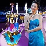 QXXZ QXXZ Wasserdicht LED Farbwechsel Wiederaufladbar Night Ice Bucket Für Wein & Und Bier, Mit Fernbedienung, Ideal Für Bar, Club, Party, Hochzeit Und Andere Feste
