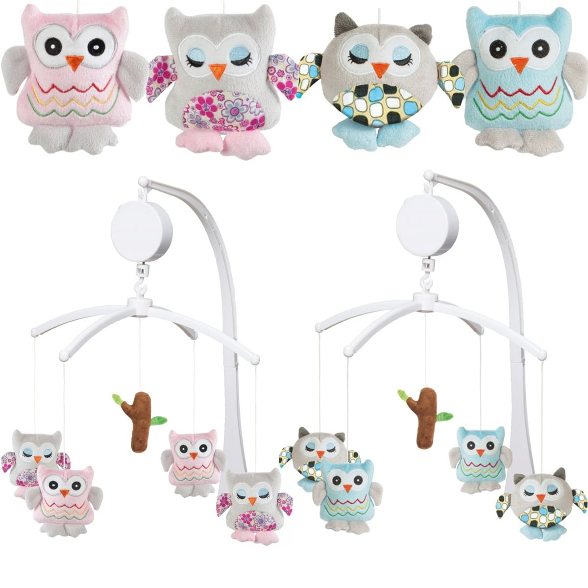 musical mobile owl for baby cot () (pink) amazoncouk baby -