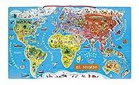 Janod - Puzzle magnético del mundo, versión en español (J05503) de JANOD