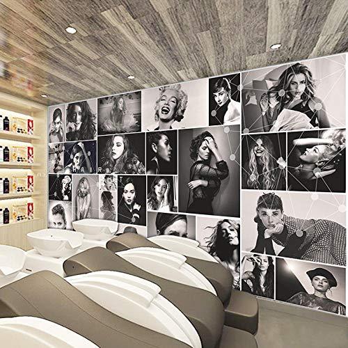 XCHBH Papel Tapiz Papel Tapiz Autoadhesivo Mural (W) 300X (H) 210Cm3D Póster De Pared Peluquería Peluquería Arte De Pared Foto Grande Papel Pintado Decoración De Interiores Para Niños