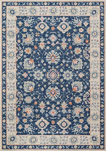 Momeni ANATOANA-8NVY2376 Anatolia Collection Teppich, 76 x 200 cm, Marineblau -
