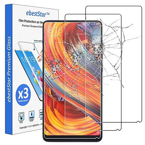 ebestStar - [Lote de 3 Cristal Templado Xiaomi Mi Mix 2S Protector de Pantalla, Película Vidrio Protectora Ultrafina, Dureza 9H, Sin-Burbujas [Aparato: 150.9 x 74.9 x 8.1mm, 5.99'']