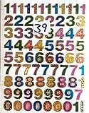 b2see Klebe-Zahlen-Aufkleber-Sticker Bögen Zahlen Bunt Klein Zum auf-kleben Selbst-klebend 2 Stück