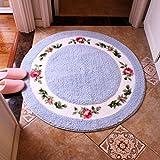 Edge to tappeto Soggiorno Tappetino da letto Tappeto da camera da letto Rotondo Sedie da computer Tappetino da spiaggia Tappetino girevole Cuscino in vimini ( Colore : B , dimensioni : 70*70cm )