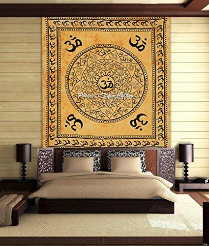 pluma-cultura-om-mandala-tapiz-de-algodon-negro-amarillo-reina-impreso-tenido-anudado-de-pared-flora