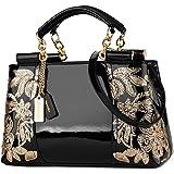 Nevenka Damen Kleine umhängetasche, Crossbody Bag aus PU Leder, Große Damen Schultertasche Handtasche mit Reißverschluss, Abe