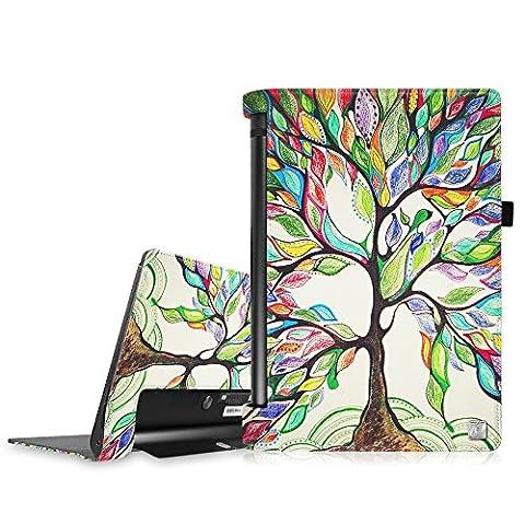 Fintie Lenovo Yoga Tab 3 10 Housse étui - Folio PU Cuir Protection Coque Haute Qualité Smart Case Cover für Lenovo Yoga Tab 3 Tablette tactile 10
