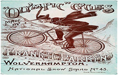 Nostalgieblechschild Olymic Cycles 15x20cm (Vintage Fahrrad Kennzeichen)