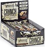 Warrior Crunch Bar Diät Protein Riegel Proteinbar Eiweiß Eiweißriegel Fitness 12x64g (Dark Choco Peanut Butter -Dunkle Schoko Erdnussbutter)