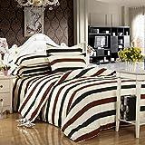 Tinksky 4 Stück Bettwäsche Bettdecken aus Baumwolle Bedspreads Quilt Sets für Hotel Home 2 Meter Multi Color