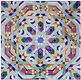 3dRose CT 73581_ 8Marokko, Hassan II Moschee Mosaik, Islamische Tile detail-af29kwi0019-kymri Wilt-Glass Fliesen, 12Zoll