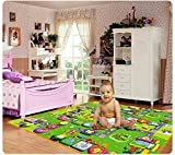#8: BirthMark Double Sided Baby Kid Toddler Crawl & Play Mat Foam Rug for In/Out Doors (4 ft x 6 ft) (100% Water Resistant) (Color & Design May Vary)