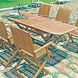 Tavolo allungabile pieghevole in legno di balau arredamento esterno BA805286