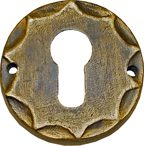 Imex El Zorro 76838 Bocallave latón rústico (placa diámetro 65 mm)