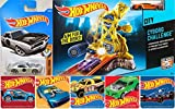 AYB Products Hot Wheels Cyborg Battle Attack Challenge Playset & Pontiac Firebird Vehicle & Bonus Racing Car Stickers Pack