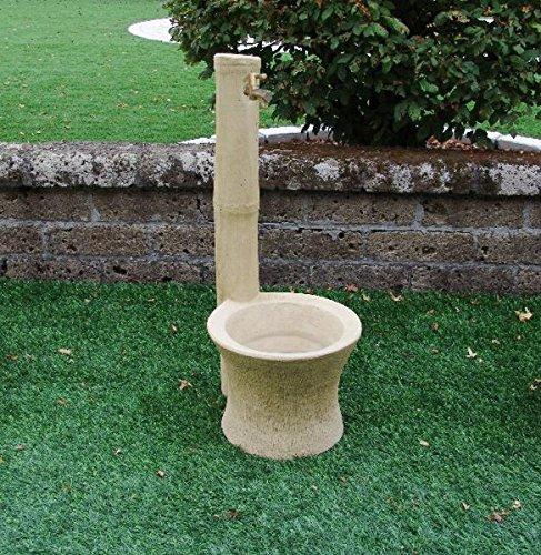 Fontanelle Gartenmöbel Monterey CM38X 45X 94H Tufo mit Wasserhahn 540ru2012und Ablaufgarnitur 540ru751