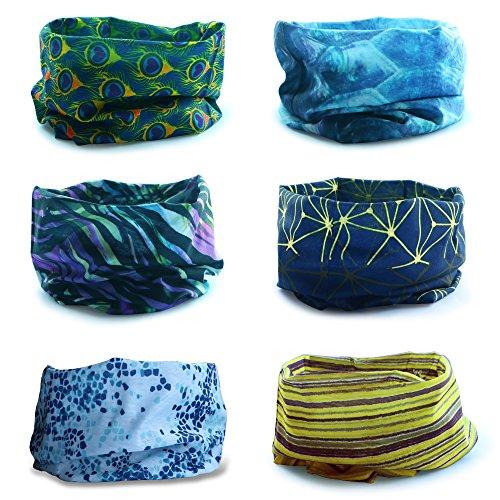 Multiuso fascia bandana scaldacollo foulard - datechip 12 in 1 sports buff scaldacollo, face shield, fascia capelli, balaclava, scaldacollo moto, donne, uomo, bambini
