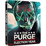 The Purge 3 - The Purge Election Year Steelbook, Blu-ray mit deutschem Ton, Nur 2.000 Exemplare, The Purge: Election Year - Zavvi Exclusive Limited Edition Steelbook (Blu-ray + UV Copy), UK Import, Uncut, Regionfree