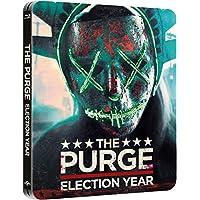 The Purge 3 - The Purge Election Year Steelbook, Blu-ray mit deutschem Ton, Nur 2.000 Exemplare, The Purge: Election Year - Zavvi Exclusive Limited Edition Steelbook (Blu-ray + UV Copy), UK Import, Uncut, Regionfree
