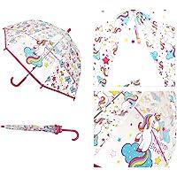 Girls Transparent Unicorn Bubble Dome Umbrella