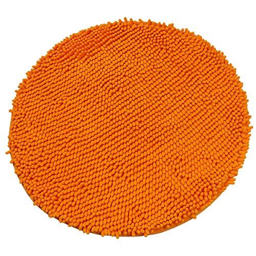 Luxbon Chenille Teppiche Stopp Antirutschmatte Badteppich Fussmatte Boden Sofa Matte Modern Orange Rund Ø 60 cm