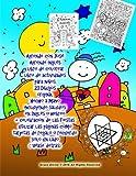 Aprende con José Aprende inglés libro de colorear libro de actividades para niños 23 Dibujos original Hecho a mano incluyendo saludos en Inglés o ... o recuerdo: solo un lado ( Vease detras)
