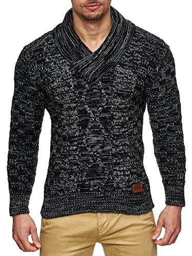 S!RPREME Herren Strickpullover Strick Pullover Jacke Hoodie Hoody 793 S M L XL Schwarz