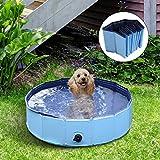 PawHut Pet Swimming Foldable Bathing Tub Padding Pool Dog Cat Puppy Washer Indoor
