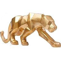 ZS ZHISHANG Statue de panthère géométrique d'art Moderne Modern Art Geometric Panther Statue Resin Leopard Sculptures…