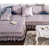 KA-ALTHEA- combinación de estilo europeo sofá sofá de tela sofá cojín funda antideslizante toalla cubierta sencillo y moderno -El amortiguador del sofá conjuntos de sofás Funda ( Color : Sección B , Tamaño : 110*240cm )