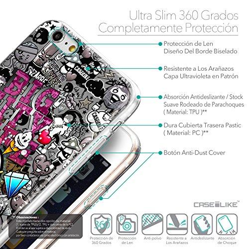 CASEiLIKE Comic Beschriftung 2914 Ultra Slim Back Hart Plastik Stoßstange Hülle Cover for Apple iPhone 6 / 6S Plus (5.5 inch) +Folie Displayschutzfolie +Eingabestift Touchstift (Zufällige Farbe) 2704