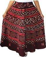Cotton Batik Printed Womens Maxi langer Rock Indien Bekleidung