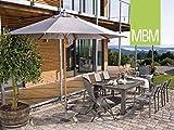 MBM Hochwertige Aluminium Sitzgruppe Malaga 8-Personen/Gartentisch/Terrassentisch/Outdoor