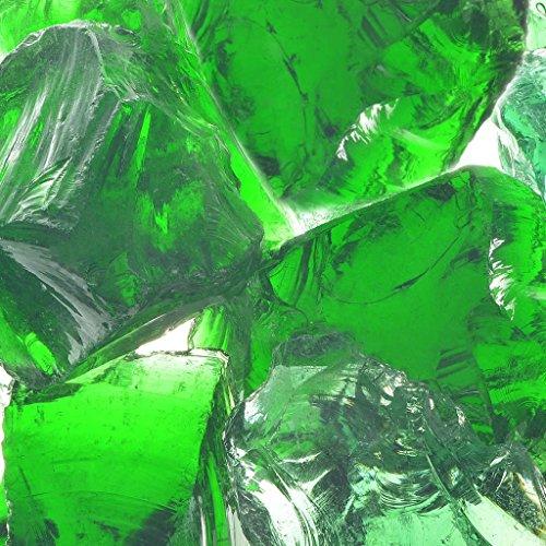 vidaXL Gabionensteine Glas Grün 60-120mm 25kg Gabione Glassteine Glasbrocken