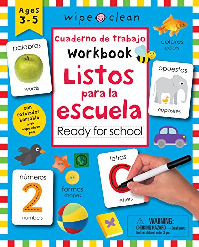 Wipe Clean: Bilingual Workbook Ready for School por Roger Priddy