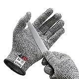 Paire de gants anti coupures Gorich - Protection de niveau 5 conforme à la norme EN 388 - Tout simplement la meilleure protection qui existe contre les coupures du quotidien (cuisine, jardinage, bricolage) - Taille M