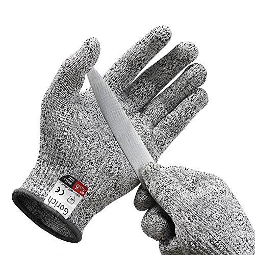 Schnittschutz-Handschuhe – Extra Starker Level 5 Schutz, EN-388 Zertifiziert, Lebensmittelecht – Hochwertig und Leicht, für alle Zwecke - Perfekte Passform (1 Paar) (Extra Large)