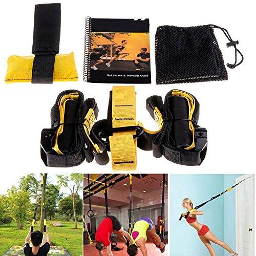 Lychee Lenker Radaufhängung Stärke Trainer Military Strap Trainer mit integriertem Türanker und Tragetasche aus Netzstoff, ideal für - Tür-workout-system